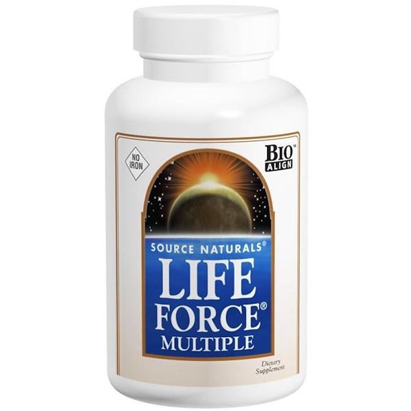 Мультивитамин  Life Force, не содержит железо, 60 таблеток
