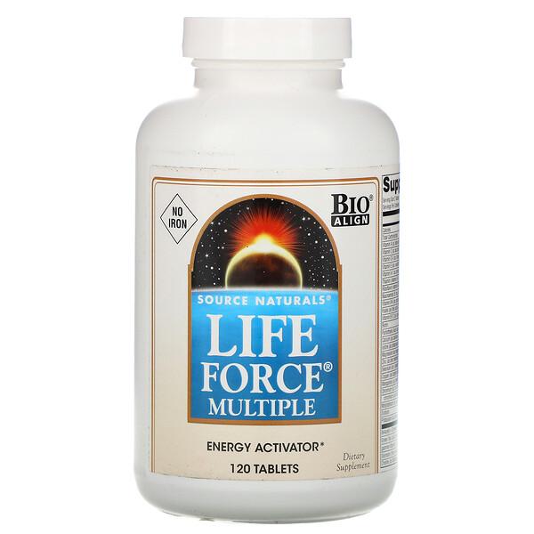 Мультивитамины Life Force, без железа, 120 таблеток