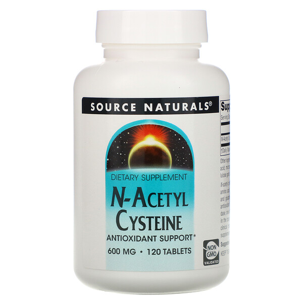 N-ацетилцистеин, 600 мг, 120 таблеток