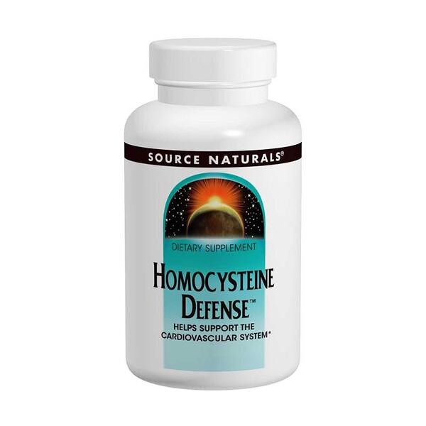 Source Naturals, Защита гомоцистеина, 120 таблеток