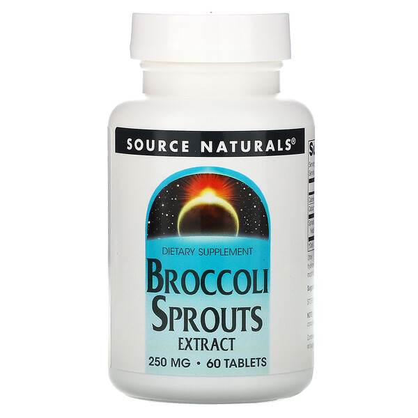 Экстракт ростков брокколи, 250 мг, 60 таблеток