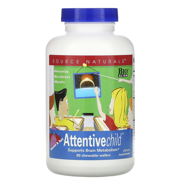 Source Naturals, Attentive Child, 60 Chewable Wafers