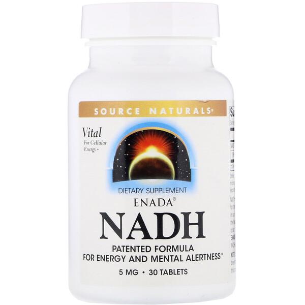 Source Naturals, Никотинамидадениндинуклеотид ENADA, 5 мг, 30 таблеток