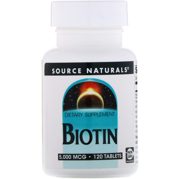 Биотин, 5 мг, 120 таблеток