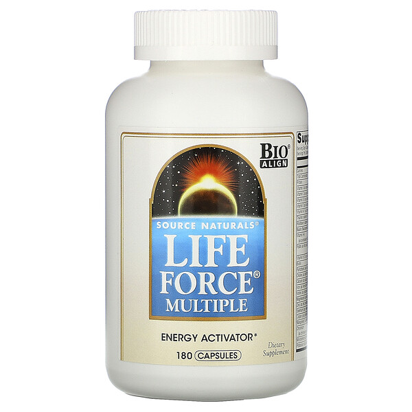 Source Naturals, Life Force Multiple, 180 капсул