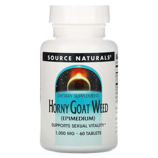 Source Naturals, Horny Goat Weed, 1,000 mg, 60 Tablets