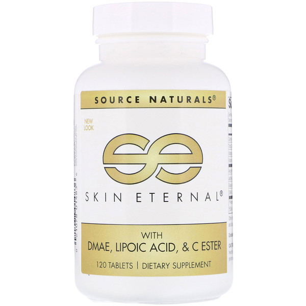 Вечность кожи с ДMAЭ, липоевой кислотой и сложноэфирный витамин C, 120 таблеток