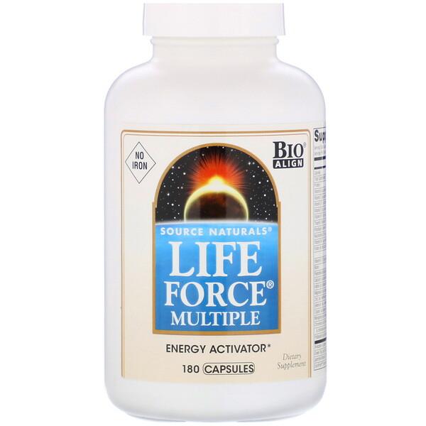 Life Force Multiple, без железа, 180капсул