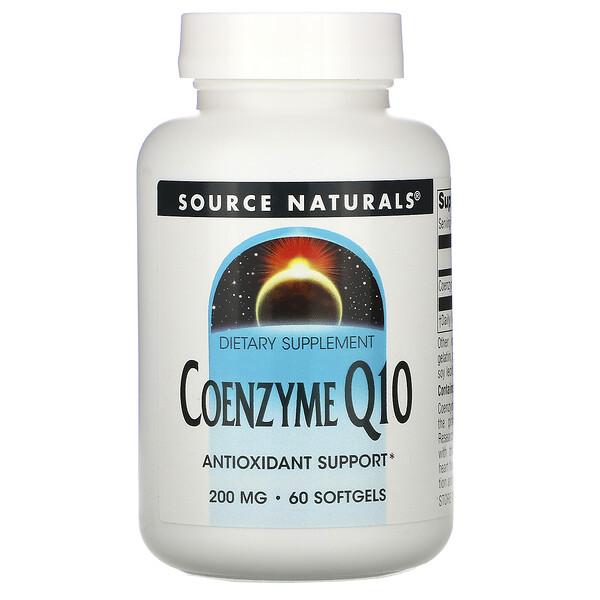 Коэнзим Q10, 200 мг, 60 гелевых капсул