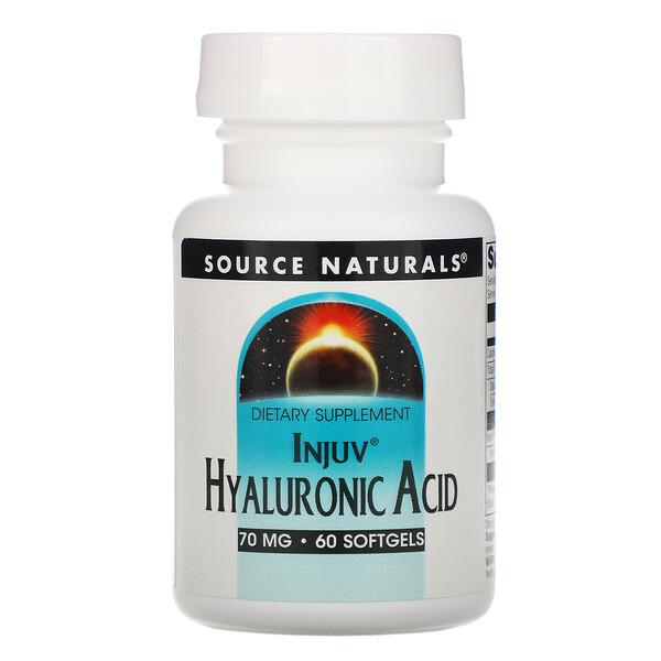 Injuv Hyaluronic Acid, 70 mg, 60 Softgels