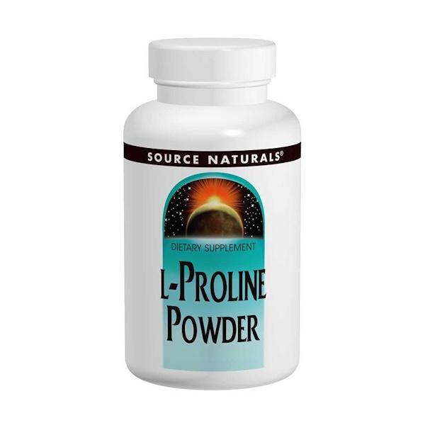 L-пролин в порошке, 113,4 г (4 унции)