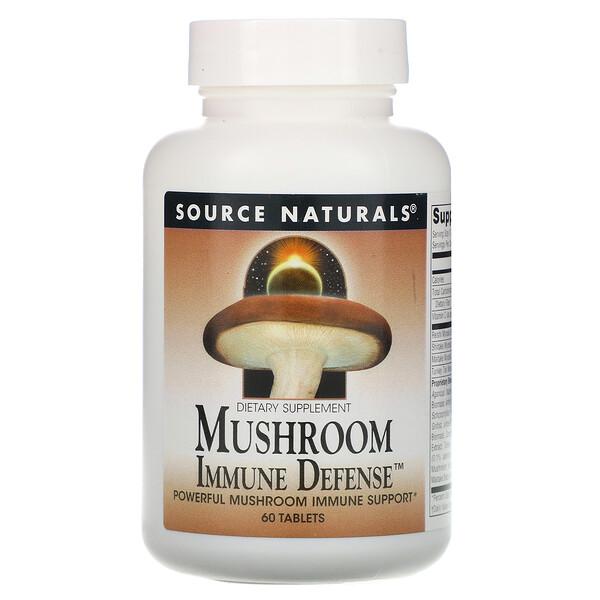 Mushroom Immune Defense, комплекс из 16 грибов, 60 таблеток