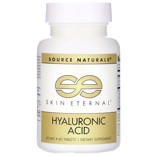 Source Naturals, Skin Eternal, Hyaluronic Acid, 50 mg, 60 Tablets