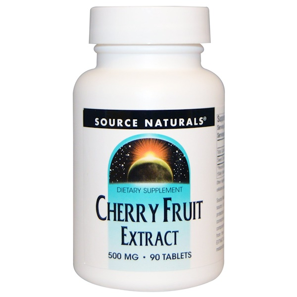Source Naturals, Экстракт ягод вишни, 500 мг, 90 таблеток