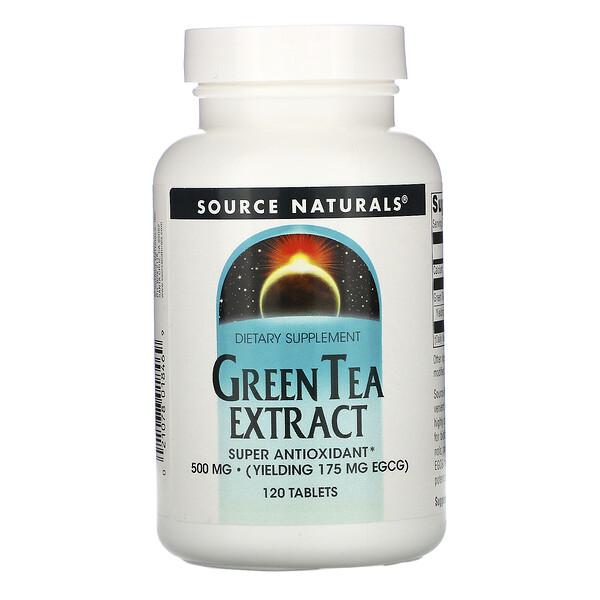 Source Naturals, Экстракт зелёного чая, 500 мг, 120 таблеток