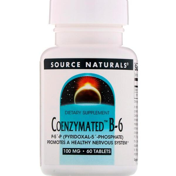 Ферментированный витамин B6, 100 мг, 60 таблеток