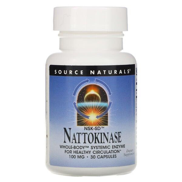 NSK-SD, наттокиназа, 100 мг, 30 капсул