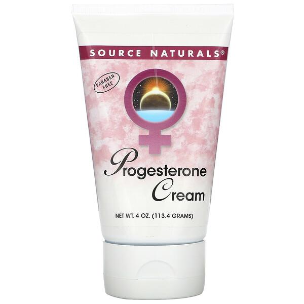 Source Naturals, Натуральный крем с прогестероном, 113.4 г