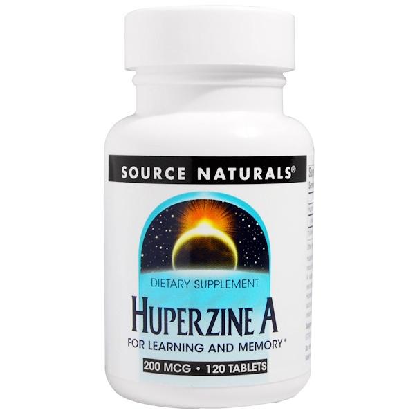 Source Naturals, Гуперзин А, 200 мкг, 120 таблеток