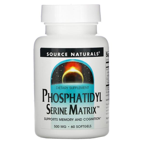 Phosphatidyl Serine Matrix, 500 mg, 60 Softgels