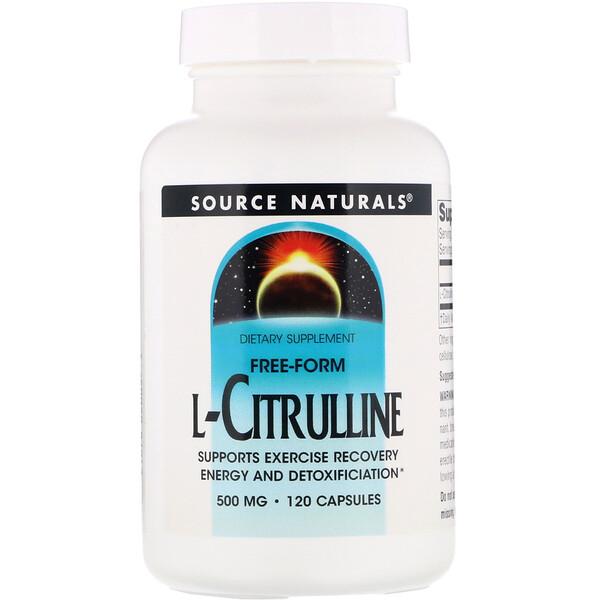 L-цитруллин, 500 мг, 120 капсул