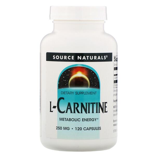 L-карнитин, 250 мг, 120 капсул