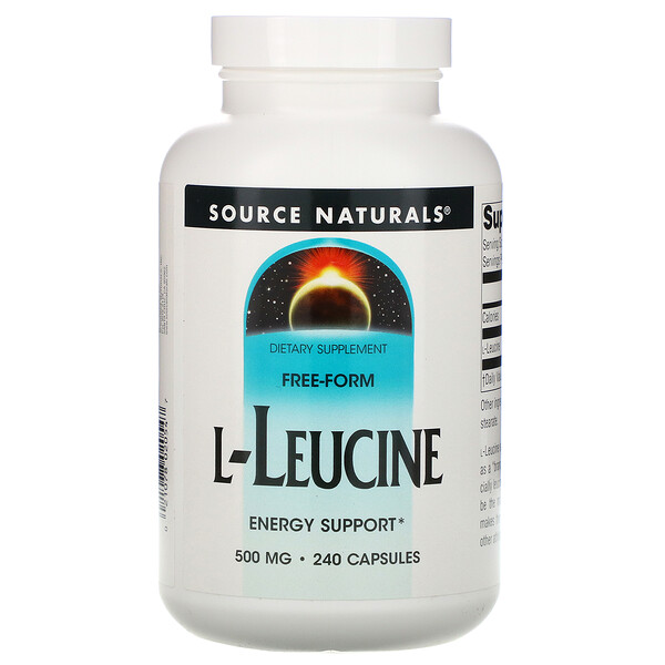 L-лейцин, 500 мг, 240 капсул