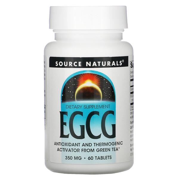 Source Naturals, EGCG, 350 мг, 60 таблеток