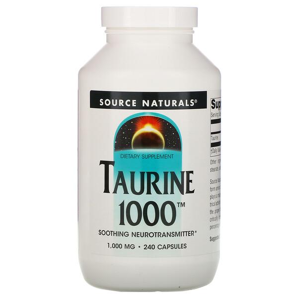 Source Naturals, Таурин, 1000 мг, 240 капсул