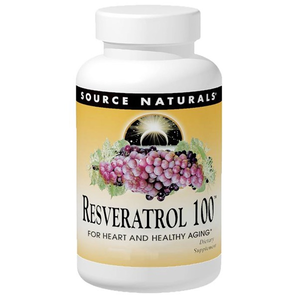 Source Naturals, Resveratrol 100, 100 mg, 120 Tablets (Discontinued Item)