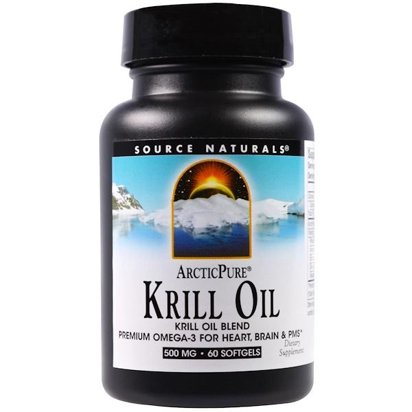 ArcticPure, крилевый жир, 500 мг, 60 желатиновых капсул