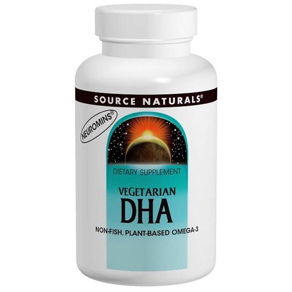 Source Naturals, Вегетарианская докозагексаеновая кислота, 200 мг, 30 капсул (Discontinued Item)