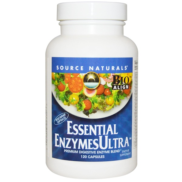 Source Naturals, Essential Enzymes Ultra, 120 капсул