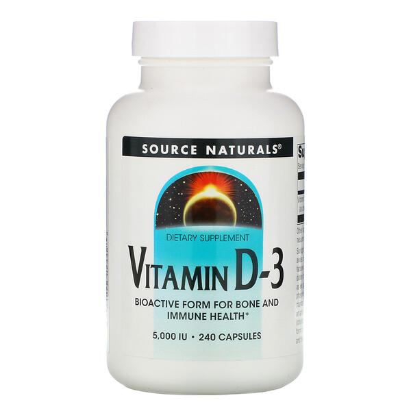 Витамин D-3, 5000 МЕ, 240 капсул