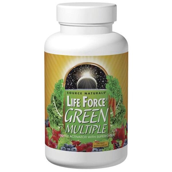Source Naturals, Life Force, Green Multiple, 180 таблеток