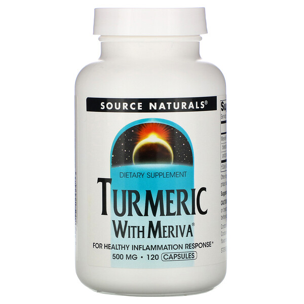 Source Naturals, Комплекс из куркумы Мерива, 500 мг, 120 капсул