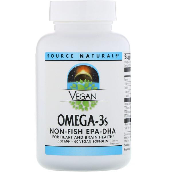 Веганская Омега 3S, ЭПК-ДГК, 300 мг, 60 веганских мягких таблеток