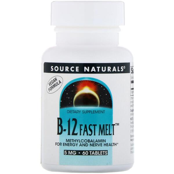 B-12 Fast Melt, 5 mg, 60 Tablets