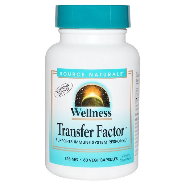 Wellness Transfer Factor, 125 мг, 60 растительных капсул