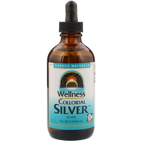 Коллоидное серебро для хорошего самочувствия, 45 PPM, 118,28 мл (4 жидкие унции)
