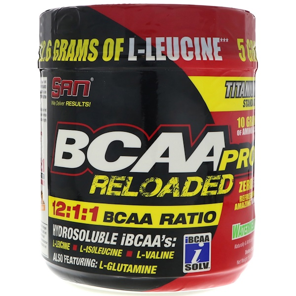 SAN Nutrition, BCAA Pro Reloaded, Арбуз, 16 унц. (456 г) (Discontinued Item)