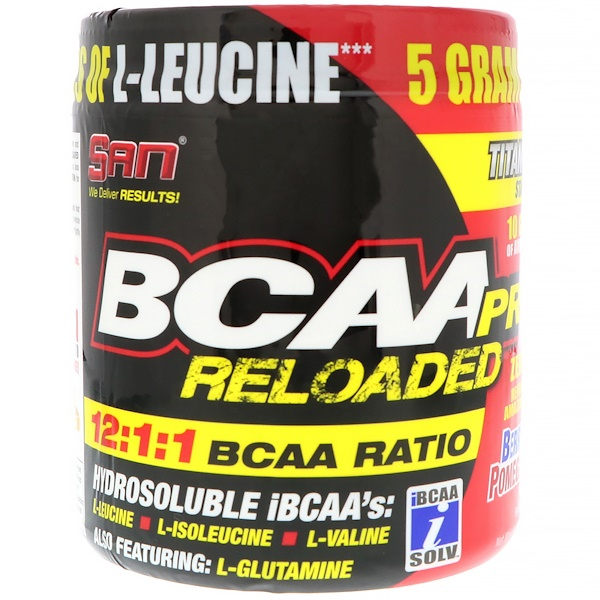 SAN Nutrition, BCAA Pro Reloaded, Berry Pomegranate, 4 oz (114.7 g) (Discontinued Item)