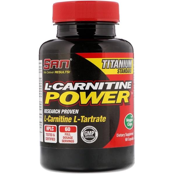 SAN Nutrition, L-карнитин, порошок, 60 капсул (Discontinued Item)