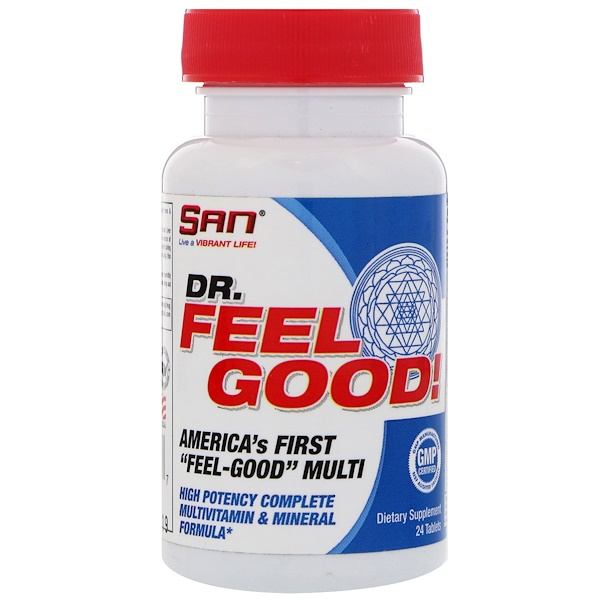 SAN Nutrition, Dr Feelgood, Мультивитамины, 24 таблетки (Discontinued Item)
