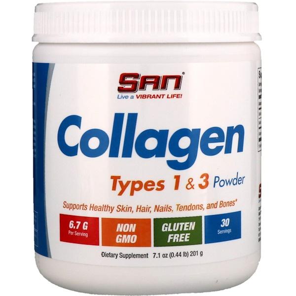 SAN Nutrition, Коллаген, тип 1 и 3 в форме порошка, 201 г (Discontinued Item)