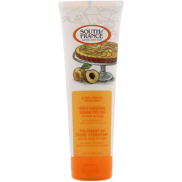 South of France, Увлажняющий сахарный скраб, с запахом абрикоса, 226г