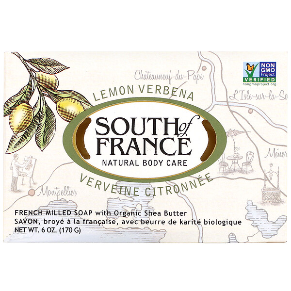 Lemon Verbena, French Milled Soap with Organic Shea Butter, 6 oz (170 g)