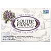 South of France, Кусковое мыло французского помола с органическим маслом ши, с запахом букета фиалок, 170г