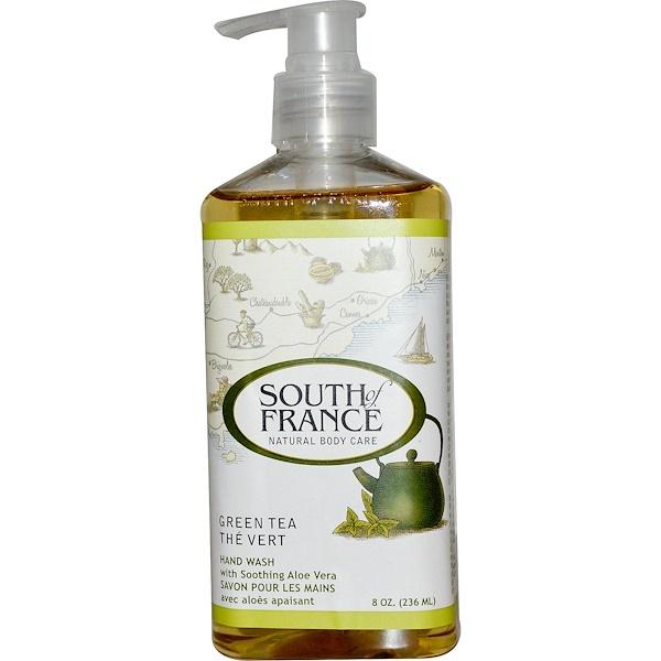Средство для мытья рук с успокаивающим алоэ вера и зеленым чаем, 8 унций (236 мл)
