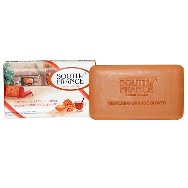 South of France, French Milled Soap, Simmering Orange Cloves, 3.5 oz (99 g) (Discontinued Item)